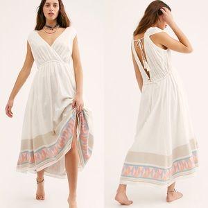 Free People Lulu 100% cotton white midi dress